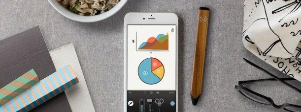 Lápis Digital 53 para iPad Grafite