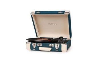Gira-discos Crosley Executivo Azul Creme