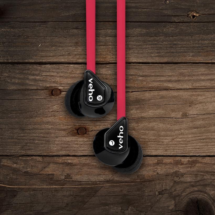 Auriculares Veho 360° Z-1 Vermelho